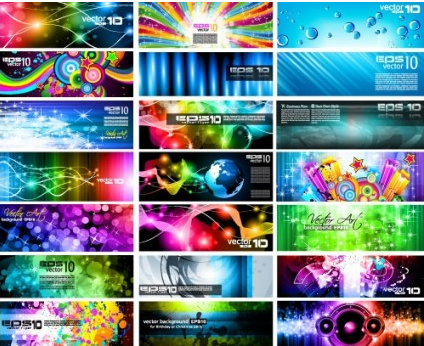 brilliant light effects dynamic business cards 02 vector graphic