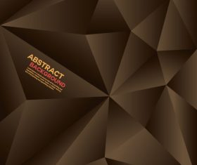 brown geometric polygon background vector