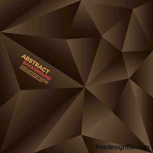 Brown Geometric Polygon Background Vector Free Download