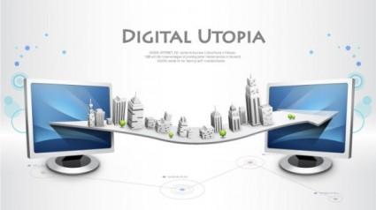 business network design background 1 vector