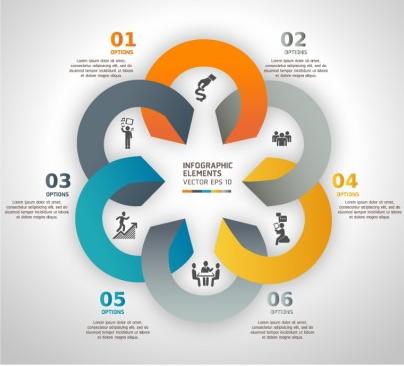 business origami options banner art vectors graphics