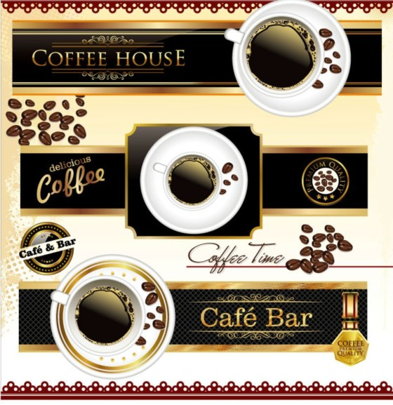 cafe bar creative vector