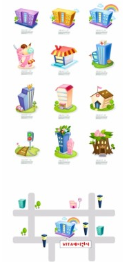 cartoon clip art house vector