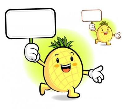 cartoon fruits Illustration vector
