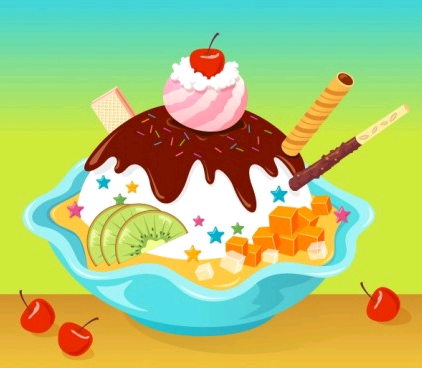 cartoon ice cream vector graphics