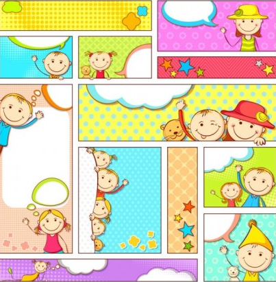 cartoon illustrator banner vector graphic