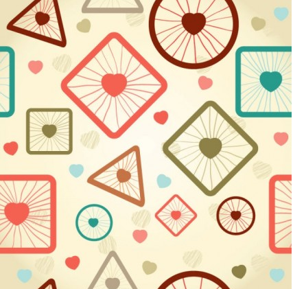 cartoon pattern background 03 vector graphics