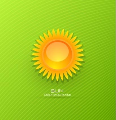 cartoon sunrise background 02 vector