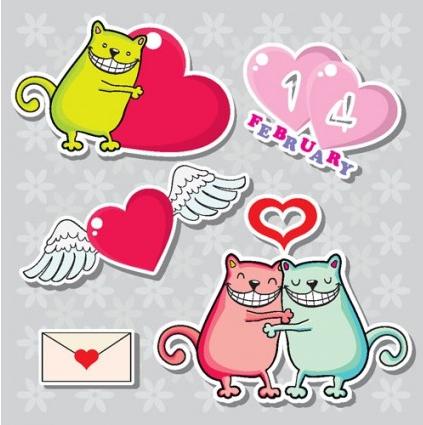 cartoon valentine illustrator 07 vector