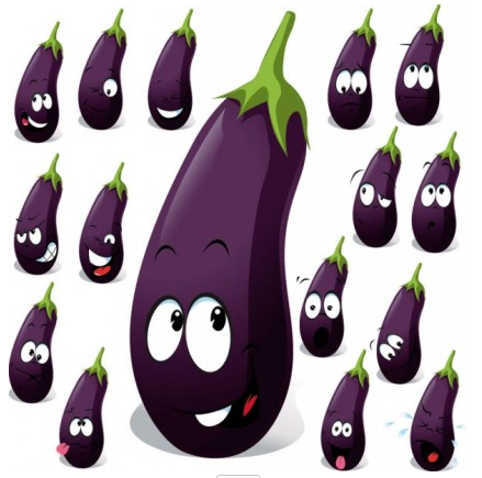 cartoon vegetables expression 02 vector
