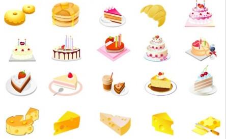 cheese cake dessert vectors material