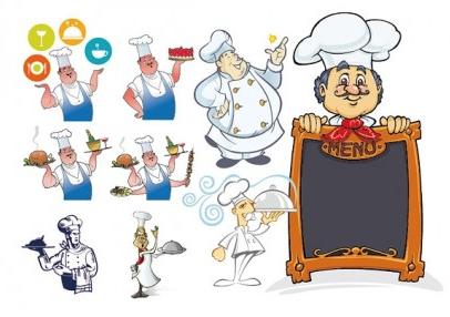 chef series creative vector