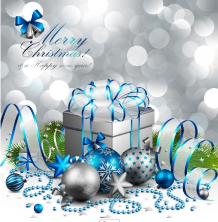 christmas background 04 set vector