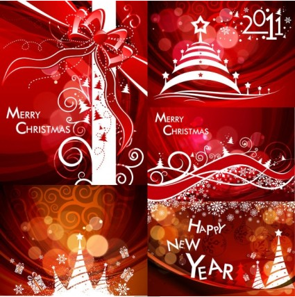christmas pattern background vector