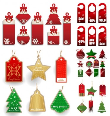 christmas sales discount tag Illustration vector