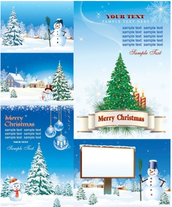 christmas snow vector material