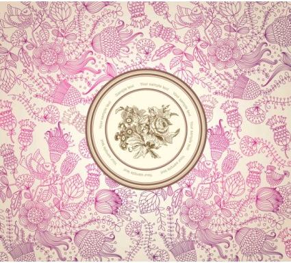 classical floral pattern 01 vectors material