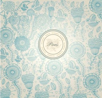 classical floral pattern 02 vectors material