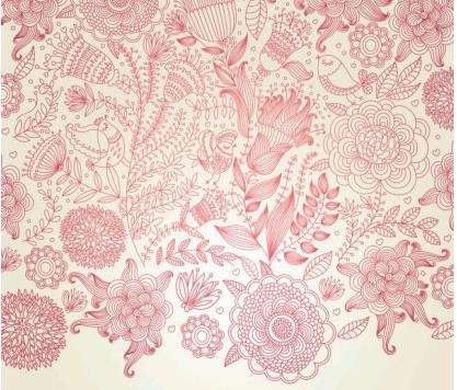 classical floral pattern 05 vectors