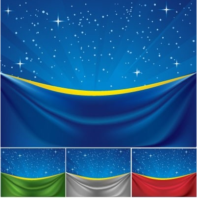 cloth under stars Free vector