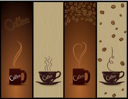 coffee banner01 vectors material