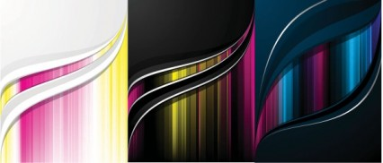 color flow lines background vector