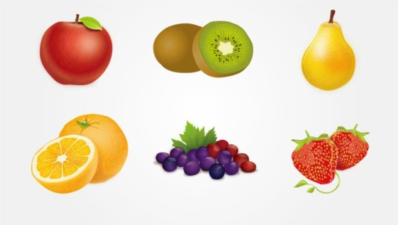 colorful delicious fruit vector