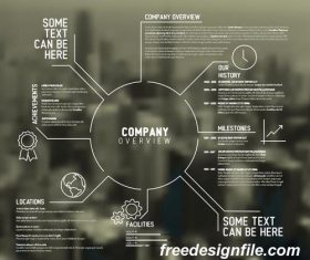 company overview business template vector 02