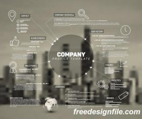 company profile business template vector 01