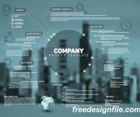 company profile business template vector 02