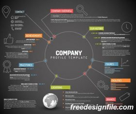 company profile business template vector 03