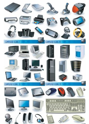 computers and peripheral hardware vector