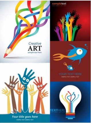 creative design posters vector
