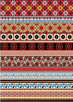 cross stitch patterns 06 set vector