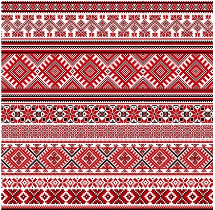 cross stitch patterns 08 vector