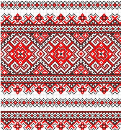 cross stitch patterns 09 vector