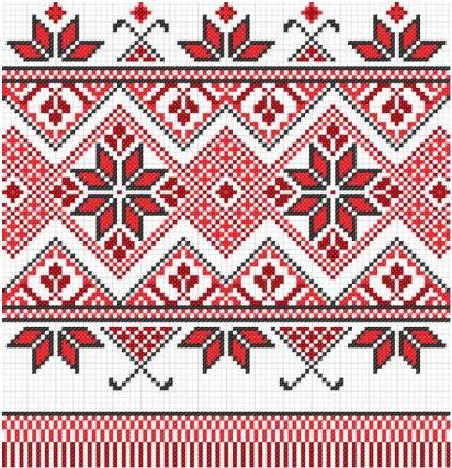 cross stitch patterns 10 vector