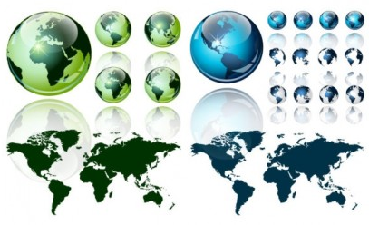 crystal world map vector