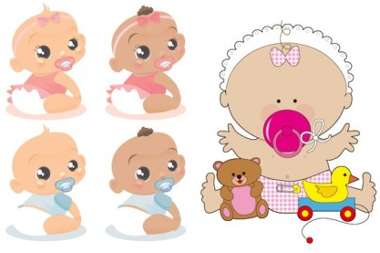 cute baby foreign vector