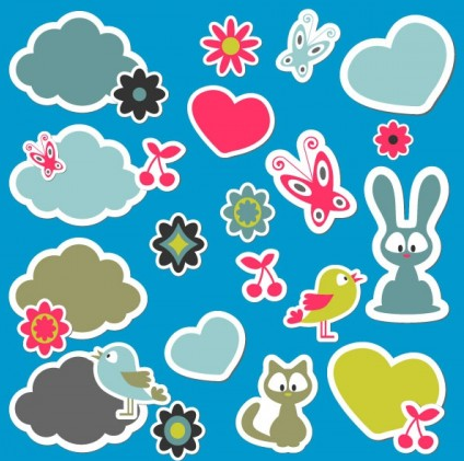 cute cartoon 04 vector graphics