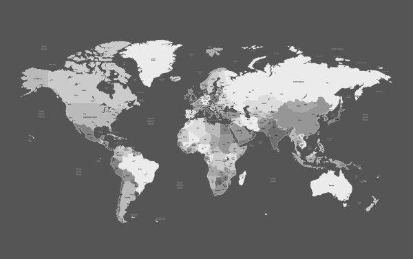 dark world map design vector