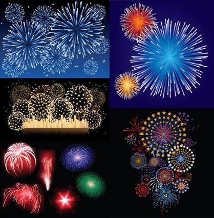dazzling fireworks vectors