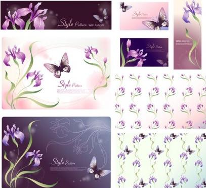 dream flowers set vector