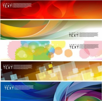 dynamic banners 02 design vectors