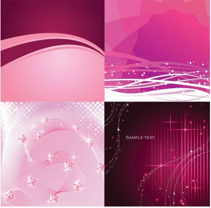 dynamic lines pink and purple background vector
