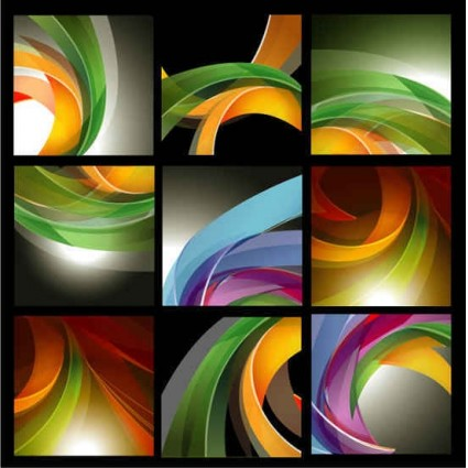 dynamic ribbon background shiny vector