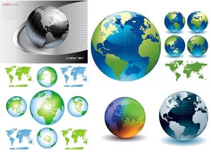 earth crystal style creative vector