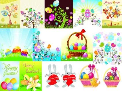 easter egg series design vectors