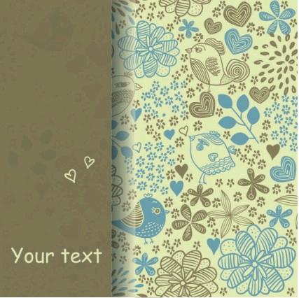 elegant pattern background vector set