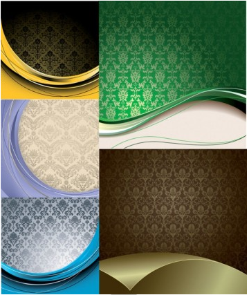 european style background gyrosigm vector